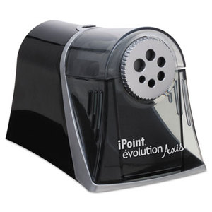 ACME UNITED CORPORATION 15509 Evolution Axis Pencil Sharpener, Black/Silver, 5w x 7 1/2 d x 7 1/4h by ACME UNITED CORPORATION