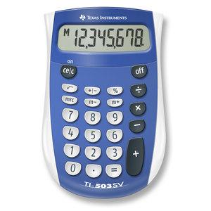 TEXAS INSTRUMENTS INC. 503SV/FBL/2L1 TI-503SV 8-Digit Display Standard Function Calculator