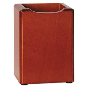 ROLODEX 23380 Wood Tones Pencil Cup, Mahogany, 3 1/8 x 3 1/8 x 4 1/2 by ROLODEX