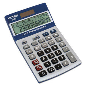 Victor Technology, LLC 9800 9800 2-Line Easy Check Display Calculator, 12-Digit, LCD by VICTOR TECHNOLOGIES