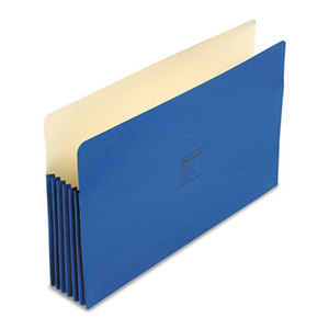 ACCO Brands Corporation WCC76BL ColorLife 5 1/4 Inch Expansion Pockets, Straight Tab, Legal, Dark Blue, 10/Box by WILSON JONES CO.