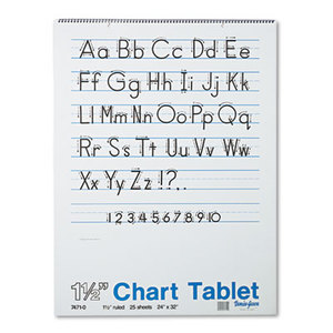 PACON CORPORATION 74710 Chart Tablets w/Manuscript Cover, Ruled, 24 x 32, White, 25 Sheets by PACON CORPORATION