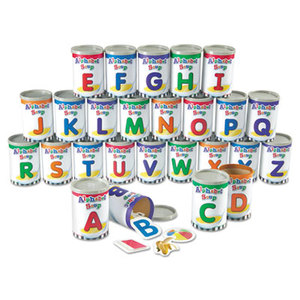 LEARNING RESOURCES/ED.INSIGHTS LER6801 Alphabet Soup Sorters, 26 Cardboard cans w/Lids, 130 Photo Cards, 52 Letters by LEARNING RESOURCES