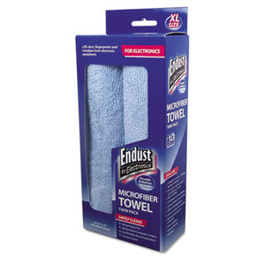 Norazza, Inc END11421 Large-Sized Microfiber Towels Two-Pack, 15 x 15, Unscented, Blue, 2/Pack by NORAZZA, INC.