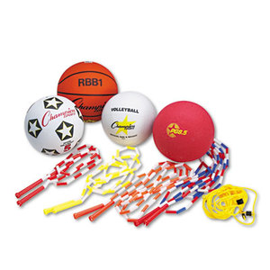 CHAMPION SPORTS UPGSET2 Physical Education Kit w/Seven Balls, 14 Jump Ropes, Assorted Colors by CHAMPION SPORT
