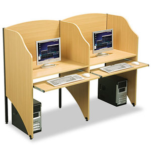 Add-A-Carrel, Laminate, 32-3/4w x 24-1/2d x 48h, Teak by BALT INC.