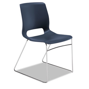 HON COMPANY HONMS101RE Motivate Seating High-Density Stacking Chair, Regatta/Chrome, 4/Carton by HON COMPANY