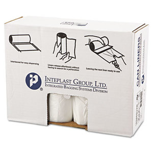 INTEGRATED BAGGING SYSTEMS IBS S386012N High-Density Can Liner, 38 x 60, 60gal, 12mic, Clear, 25/Roll, 8 Rolls/Carton by INTEGRATED BAGGING SYSTEMS