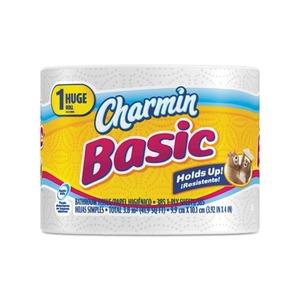Procter & Gamble 80234970 Basic Big Roll, 1-Ply, 4 x 3.92, 385 Sheets/Roll, 48 Rolls/Carton by PROCTER & GAMBLE