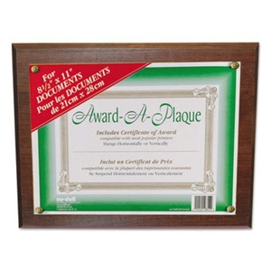Nu-Dell Manufacturing Company, Inc 18811M Award-A-Plaque Document Holder, Acrylic/Plastic, 10-1/2 x 13, Walnut by NU-DELL MANUFACTURING