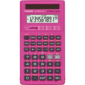 Casio Computer Co., Ltd FX-260SLRSC-PK FX-260 Solar Scientific Calculator (Pink)