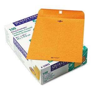 QUALITY PARK PRODUCTS 37893 Clasp Envelope, 9 1/2 x 12 1/2, 28lb, Brown Kraft, 100/Box by QUALITY PARK PRODUCTS