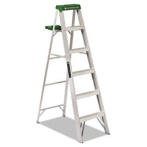 LOUISVILLE AS40-06 #428 Six-Foot Folding Aluminum Step Ladder, Green by LOUISVILLE