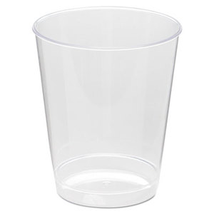 Comet Plastic Tumbler, 8 oz., Clear, Tall, 25/Pack by WNA, INC.