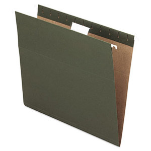 ESSELTE CORPORATION 81602 Hanging File Folders, 1/5 Tab, Letter, Standard Green, 25/Box by ESSELTE PENDAFLEX CORP.