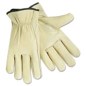 MCR Safety 3211XL Full Leather Cow Grain Gloves, Extra Large, 1 Pair by MCR SAFETY