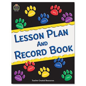 TEACHER CREATED RESOURCES TCR2551 Paw Prints Lesson Plan & Record Book With Monthly Planner, 160 Pages, 8-1/2 x 11 by TEACHER CREATED RESOURCES