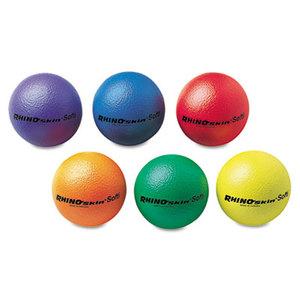 "CHAMPION SPORTS RS65SET Rhino Skin Ball Sets, 6 1/2"", Blue, Green, Orange, Purple, Red, Yellow, 6/Set by CHAMPION SPORT"