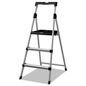 LOUISVILLE BXL226003S Aluminum Step Stool Ladder, 250lb cap, 20w x 31 spread x 47h by LOUISVILLE