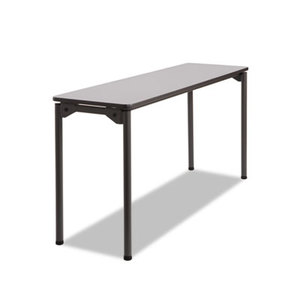 ICEBERG ENTERPRISES, LLC 65877 Maxx Legroom Rectangular Folding Table, 60w x 18d x 29-1/2h, Gray/Charcoal by ICEBERG ENTERPRISES