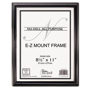 Nu-Dell Manufacturing Company, Inc 10570 EZ Mount Document Frame, Plastic, 8 1/2 x 11, Black by NU-DELL MANUFACTURING