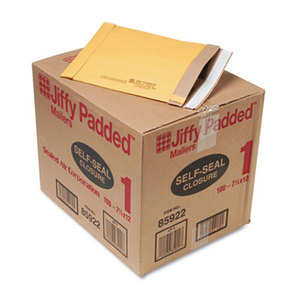 ANLE PAPER/SEALED AIR CORP. 85922 Jiffy Padded Self-Seal Mailer, #1, 7 1/4 x 12, Golden Brown, 100/Carton by ANLE PAPER/SEALED AIR CORP.