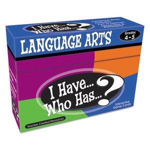 TEACHER CREATED RESOURCES TCR7831 I Have Who Has Game, Grades 4-5, Class Play, 37 Cards/Game, 148/Box by TEACHER CREATED RESOURCES