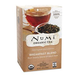 Numi, LLC 10220 Organic Teas and Teasans, 1.4oz, Breakfast Blend, 18/Box by NUMI