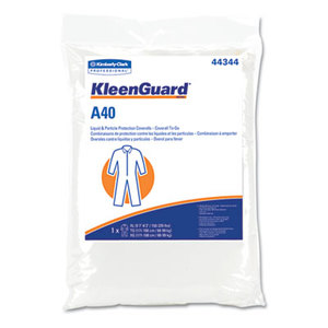 Kimberly-Clark Corporation 44344 A40 Coverall To-Go, Microporous Film Laminate, XL, White by KIMBERLY CLARK