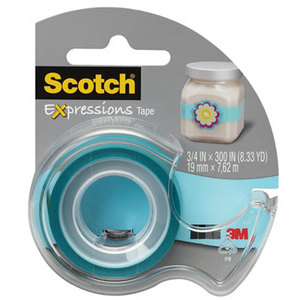 """3M C214BLUD Expressions Magic Tape with Dispenser, 3/4"""" x 300"""", Turquoise by 3M/COMMERCIAL TAPE DIV."""