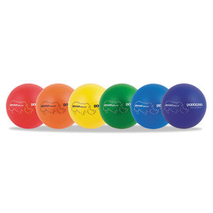 "CHAMPION SPORTS RXD7SET Rhino Skin Dodge Ball Set, 7"" Diameter, Assorted, 6 Balls/Set by CHAMPION SPORT"