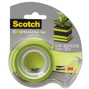 """3M C214GRND Expressions Magic Tape with Dispenser, 3/4"""" x 300"""", Lime Green by 3M/COMMERCIAL TAPE DIV."""