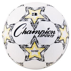 CHAMPION SPORTS VIPER3 VIPER Soccer Ball, Size 3, White by CHAMPION SPORT