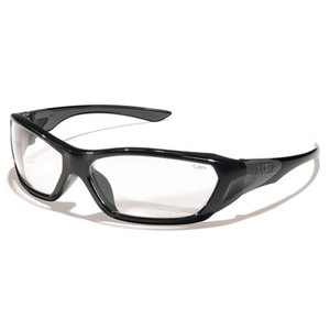 MCR Safety FF120 ForceFlex Safety Glasses, Black Frame, Clear Lens by MCR SAFETY