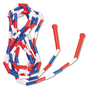 CHAMPION SPORTS PR16 Segmented Plastic Jump Rope, 16ft, Red/Blue/White by CHAMPION SPORT