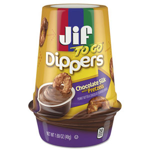 J.M. Smucker Company 5150021019 Dippers, Chocolate Silk w/Pretzels, 1.69 oz Cup, 8/Carton by J.M. SMUCKER CO.