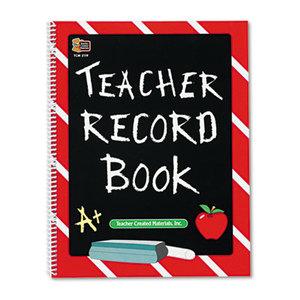 TEACHER CREATED RESOURCES 2119 Record Book, Spiral-Bound, 11 x 8-1/2, 64 Pages by TEACHER CREATED RESOURCES