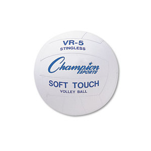 CHAMPION SPORTS VR4 Rubber Sports Ball, For Volleyball, Official Size, White by CHAMPION SPORT