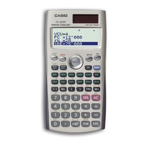 FC-200V Financial Calculator
