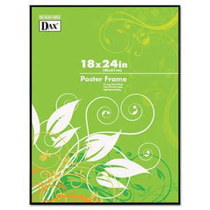 DAX MANUFACTURING INC. N16018BT Coloredge Poster Frame, Clear Plastic Window, 18 x 24, Black by DAX MANUFACTURING INC.