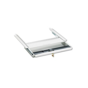 HON COMPANY D2Q Center Drawer w/Core Removable Locks, 38000 Series, 19 x 14-3/4 x 3, Light Gray by HON COMPANY