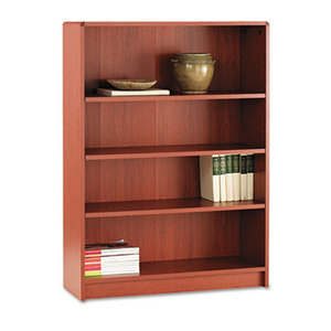 HON COMPANY 1894J 1890 Series Bookcase, Four Shelf, 36w x 11 1/2d x 48 3/4h, Henna Cherry by HON COMPANY