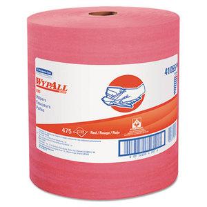 Kimberly-Clark Corporation 41055 X80 Wipers, HYDROKNIT Roll, 12 1/2 x 13 2/5, Red, 475 Wipers/Roll by KIMBERLY CLARK