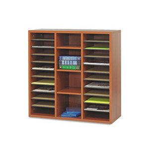 Safco Products 9441CH Apres Literature Organizer, 30 x 12 x 30, Cherry by SAFCO PRODUCTS
