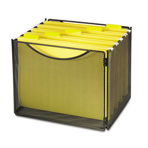 Safco Products 2170BL Desktop File Storage Box, Steel Mesh, 12-1/2w x 11d x 10h by SAFCO PRODUCTS