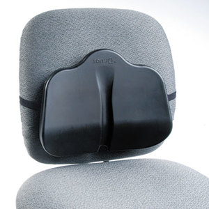 Safco Products 7151BL Softspot Low Profile Backrest, 13-1/2w x 3d x 11h, Black by SAFCO PRODUCTS
