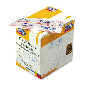 """First Aid Only, Inc G-122 Fabric Bandages, 1"""" x 3"""", 100/Box by FIRST AID ONLY, INC."""
