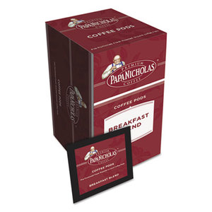 PapaNicholas Coffee PCO85201 Premium Coffee Pods, Breakfast Blend, 0.75 oz, 18/Box by PAPANICHOLAS COFFEE