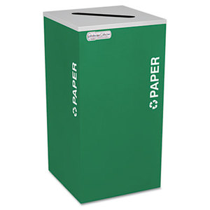 EXCELL METAL PRODUCTS CO RC-KDSQ-P EGX Kaleidoscope Collection Recycling Receptacle, 24gal, Emerald Green by EXCELL METAL PRODUCTS CO