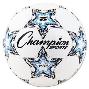 CHAMPION SPORTS VIPER5 VIPER Soccer Ball, Size 5, White by CHAMPION SPORT